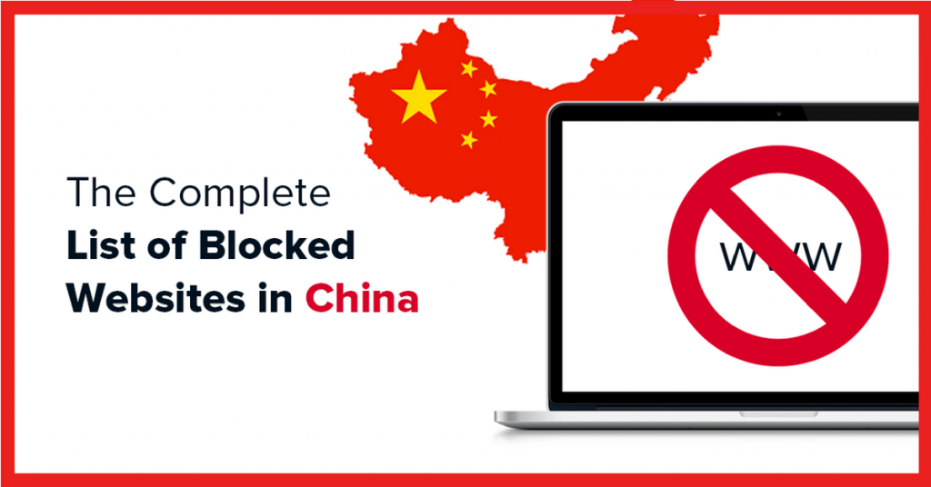 Complete list websites that are blocked in China